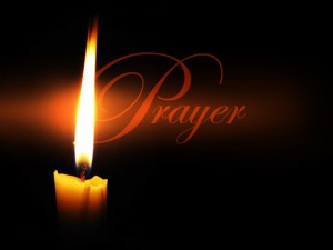 prayer with candle